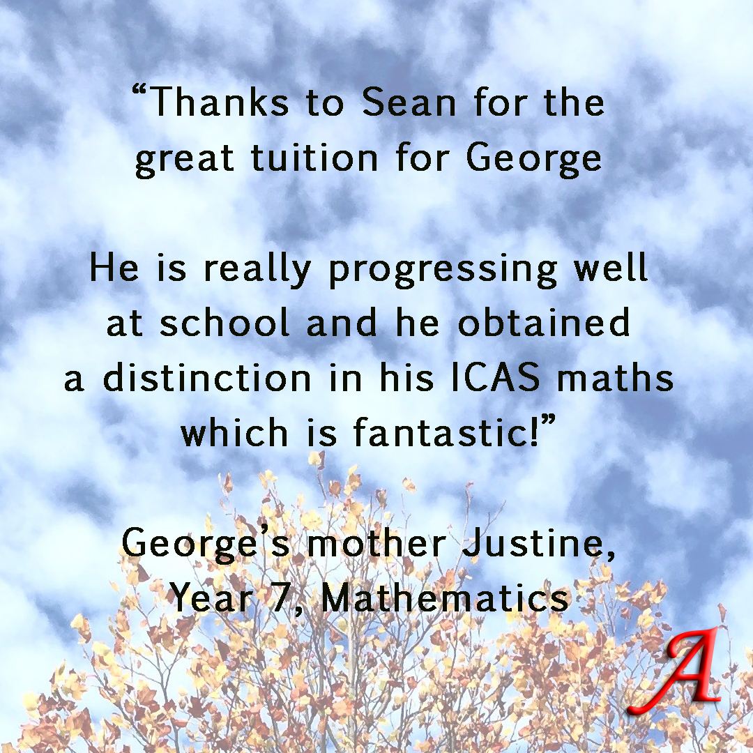Testimonial George Year 7 Maths A.jpg